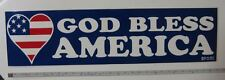 Set of 4 GOD BLESS AMERICA Bumper Stickers Union Made in the USA US Flag