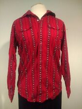 Woman's Top Western Shirt Panhandle Slim Size XL 18 Long Sleeve Snap Red
