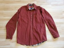 Mens Wolverine Rust Colored Buttondown Shirt Size M