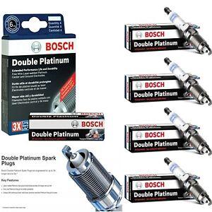 4 pcs Bosch Double Platinum Spark Plugs For 2014-2017 VOLKSWAGEN PASSAT L4-1.8L