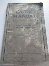 Ford Manual Domestic and Overseas Edition For Owners and Operators of Ford Ca...
