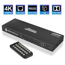 8 Port HDMI KVM Switch TESmart Switcher Box Support 3840*2160@60Hz HDCP2.2