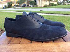 Mens JM Weston Suede And Reptile Oxford Shoes Blue Black 9.5D
