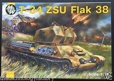 MW/Military Wheels 1/72 kit#7213 GermanWWII T-34 ZSU FLAK 38 Vier SPAAG;Ozseller