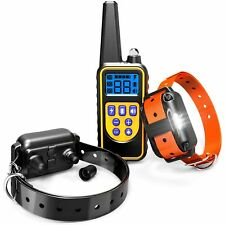 Dog Training Collar, F-color Waterproof and Rechargeable Dog Shock Collar 2600ft