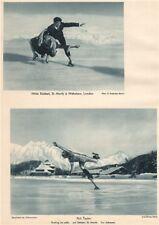 ICE SKATING. Rückert/Nicholson. Phil Taylor, skating on stilts, St. Moritz 1935