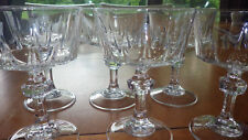 Clear Blown Glass Champagne Glasses tall sherbets Cristal D'Arques France 6 8 oz