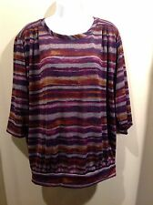 NEW WOMAN/'S LADIES SUPER QUALITY LIGHTWEIGHT FLORAL SUMMER TOP   EX-DUNNES