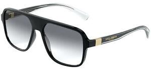 Dolce & Gabbana STEP INJECTION DG 6134 Black/Grey 57/16/145 men Sunglasses
