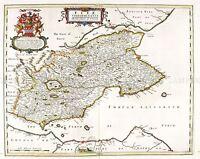 MAP ANTIQUE 1654 SCOTLAND BLAEU FIFE HISTORIC LARGE REPLICA POSTER PRINT PAM0124
