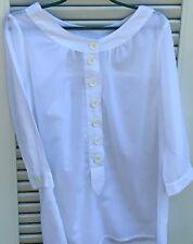 CHEMISIER/ tunique CYRILLUS en coton fin  blanc taille 38 porté une fois