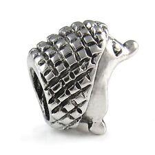 5 Pcs Hedgehog Animal Silver European Spacers Charms Beads For Bracelet L#482