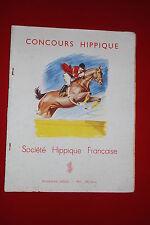 Programme concours hippique Fontainebleau 1956 P.Ordner n°1