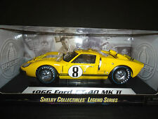 Shelby Collectibles Ford GT40 GT MKII 1966 Race #8 Yellow 1/18
