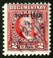 OLD US stamp usa sc#R621 Revenue Documentary overprint 1953