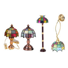 4 Set 1/12 Miniatur LED Licht Lampe Puppenhaus Schlafzimmer Wohnzimmer