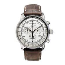 ZEPPELIN 100 Jahre Zeppelin Quartz, 7680-1, Chronograph Alarm, silver