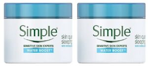2 x Simple Water Boost Skin Quench Sleeping Cream (2 x 50ml) - Boxed