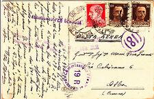 POSTA MILITARE N38-20 c+due 30 c IMPERIALE dalla GRECIA->ALBA 7.8.1942