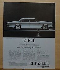 1963 magazine ad for Chrysler - Newport 4-door Sedan, economical