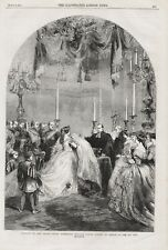 OLD 1859 BAPTISM OF PRINCE FREDRICK WILLIAM VICTOR ALBERT  KAISER AT BERLIN b68