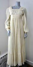 Vintage GUNNE SAX Ivory RENAISSANCE Prairie Princess Empire WEDDING Dress Sz 7