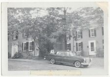 OLD CAR TAIL FINS MERCEDES GIRL ON TRUNK OLD/VINTAGE PHOTO-SNAPSHOT-B2289