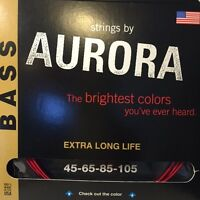 Aurora Bass Premium Coloured Guitar Strings (4  and 5 string sets available)