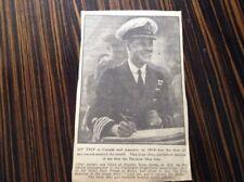 Edward VIII As Prince Of Wales Press Cutting of Photo 1919 Halifax Nova Scotia