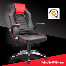 Racing Gaming Office Chair Computer Executive Recliner Swivel Sport PU Leather