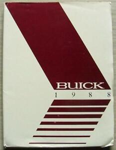 BUICK Car Press Pack USA 1988 Photos Regal RIVIERA Electra LE SABRE Skylark ++