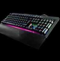 Real Mechanical USB Keyboard Enhanded Gaming Backlit LED Changeable Color Black
