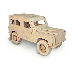 Land Rover Woodcraft Quay Construction Wooden 3D Model Kit P323 Military Vehicle