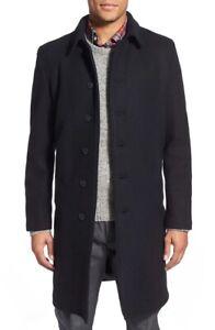 Schott NYC Men's Wool Blend Officer's Coat New Navy Blue Size Medium $475