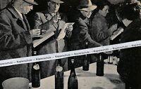 Weinmarkt in Offenburg - Ortenauer Wein - um 1955 -   L 6-13