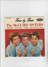 mcguire sisters/four by three - coral ep ec81174 - 45rpm - nm/nm - 1958 ref#8059