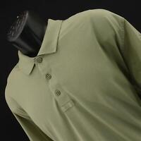 Men 5.11 Tactical Series Beige Performance Short Sleeve Polo Shirt Size Large L