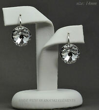 925 Sterling Silver Earrings made with Swarovski Crystals - 14mm Rivoli