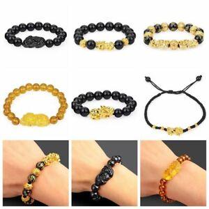 Attirer la richesse Bracelet Feng Shui Piscio GOOD LUCKY bracelet Obsidienne