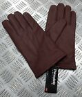 Military Spec Officers Brown Leather Soft Thinsulate Lined 3 Dart Gloves L11