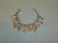 Vintage Kirk's Folly Angels Hearts Butterflies Charm Bracelet Unused FreeShip