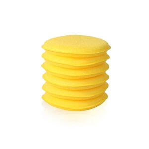 6 x Round Foam Sponge Applicator Pads PTFE Polishing, Carnauba Waxing, Valeting