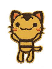 Tan Kitty Cat Kitten Iron On Applique Patch