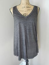 $39 Calvin Klein Performance Relaxed Icy Wash Tank  Medium Black Super Soft