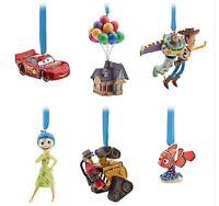 Pixar Disney Store 30th Anniversary Sketchbook Ornament Set Limited Edition Cars