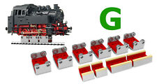 6 X G SCALE ROLLERS W/WHEEL CLEANING ACCESSORIES