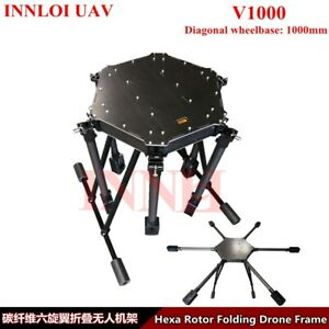 DIY 1000mm Drone Fame carbon fiber Hexacopter Multi Rotor For Agricultural drone
