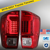 LED Tail Lights Rear Lamps for 2016 2017 2018 2019 2020 2021 Toyota Tacoma - Red