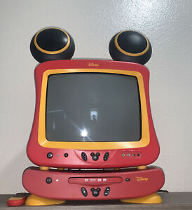 """Disney MICKEY MOUSE CRT TV 13"""" DT1350-C w/ DVD Player (TV Remote Only)"""