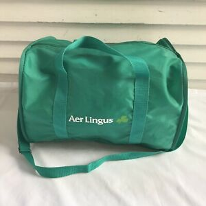 Aer Lingus Carry On Lightweight Duffle Bag Luggage Convertable Zip Pouch Green